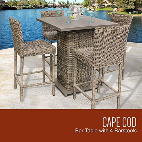 TK Classics Cape Cod Pub Table Set With Barstools 5 Piece Outdoor Wicker Patio Furniture ** See this great product.(This is an Amazon affiliate link and I receive a commission for the sales)