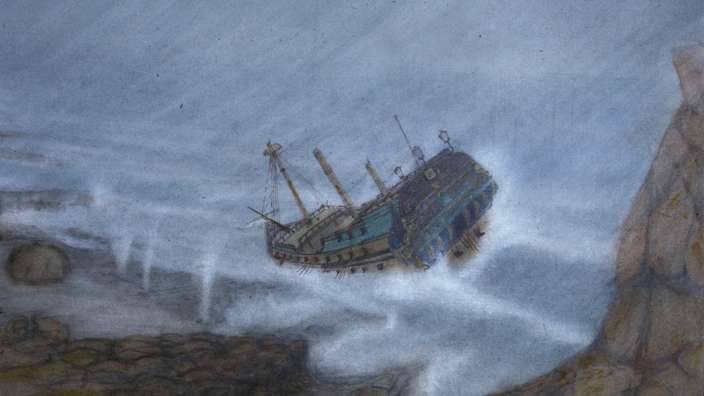The Dutch East India (VOC) ship Zuytdorp was lost without trace in the winter of 1712 en route from the Netherlands to Batavia (now Jakarta). The vessel was carrying a rich cargo and considerable silver bullion.  Of the seven VOC, English East India Company, Portuguese and American East India ships known to be lost off the coast of Western Australia, Zuytdorp is the only wreck from which survivors did not reach Batavia to tell the tale Zuytdorp - Illustration from WA Museum