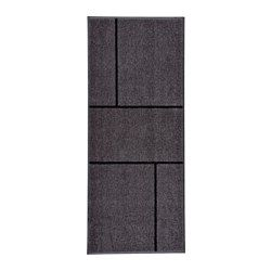 """IKEA - KÖGE, Door mat, 2 ' 8 """"x6 ' 7 """", , The door mat is perfect for outdoor use since it is made to withstand rain, sun, snow and dirt."""