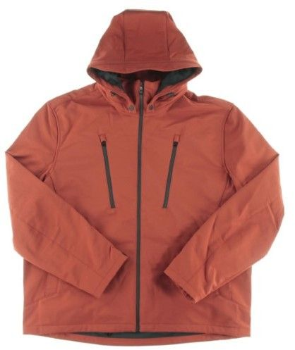 Michael Kors Mens Big & Tall Hooded Signature Soft Shell Jacket