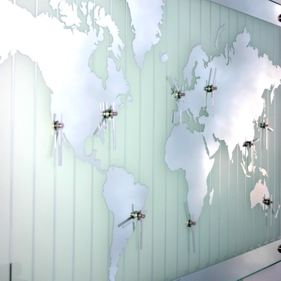 7 best office decor images on pinterest world maps vinyls and uk mirror world map timezone clock gumiabroncs Gallery