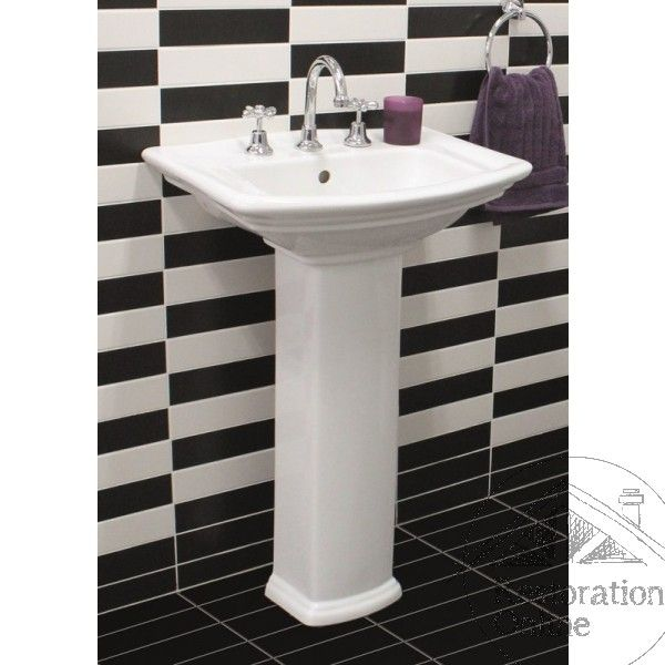 Washington Pedestal Basin White