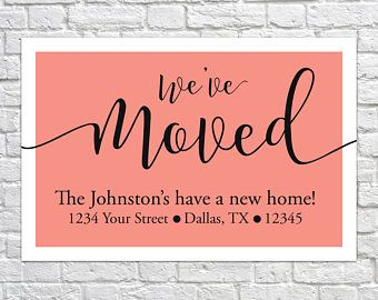 Moving Announcement Change of Address Card Instant
