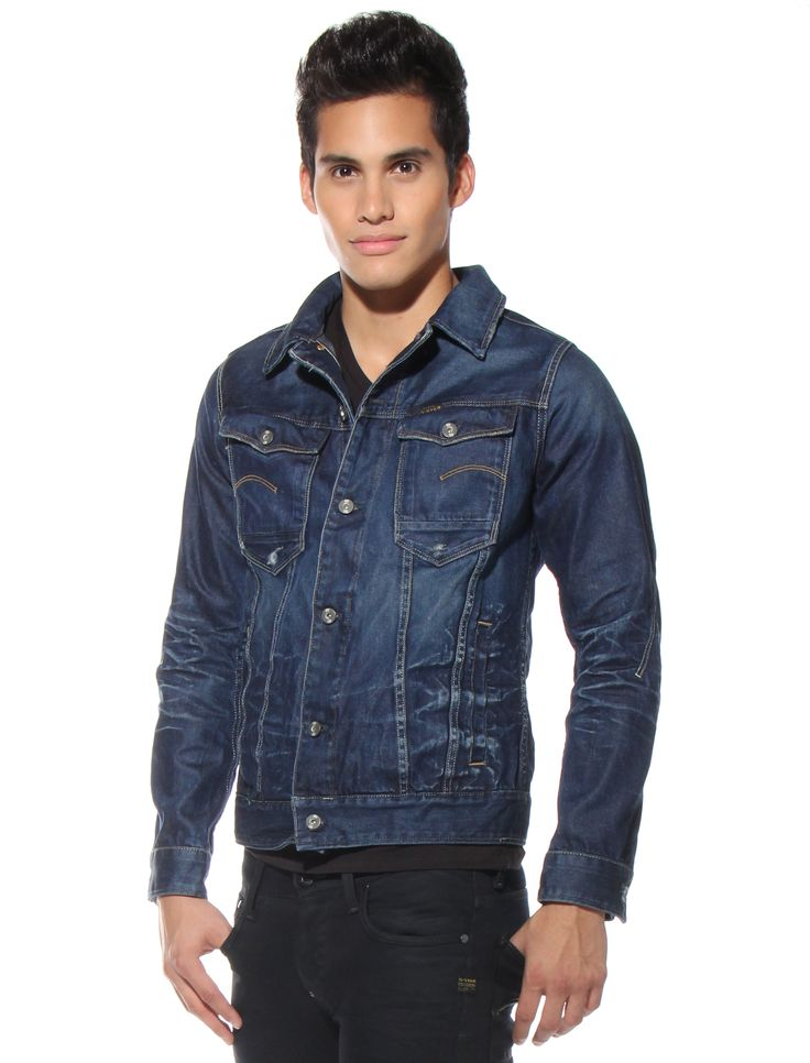 ROCK this denim G-Star jacket!  Modeled here by Marvin Cortes of AMERICAS NEXT TOP MODEL http://www.newyorkspeed.com/p-9826-g-star-jacket-arc-3d.aspx#.UlBdkoZwp8E