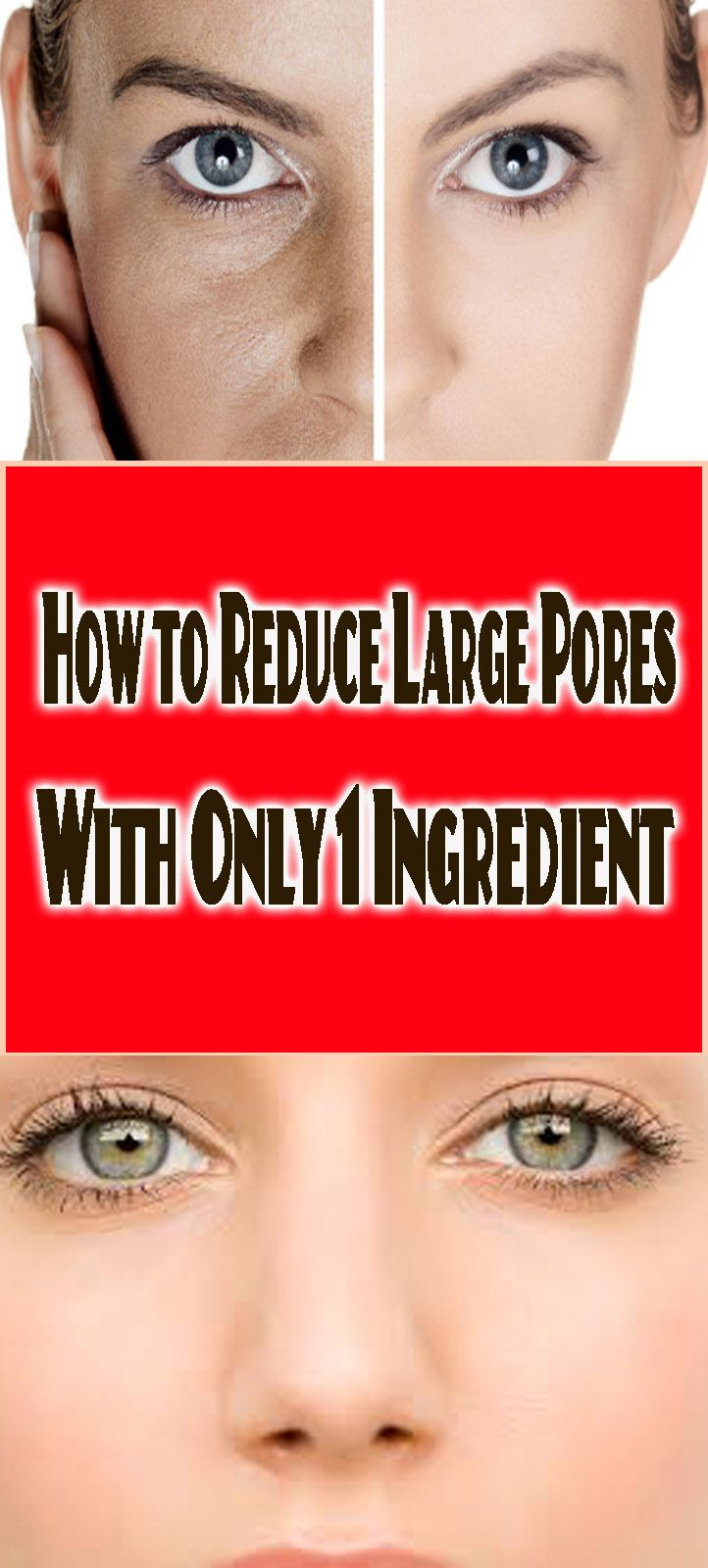 How to Reduce Large Pores With Only 1 Ingredient.
