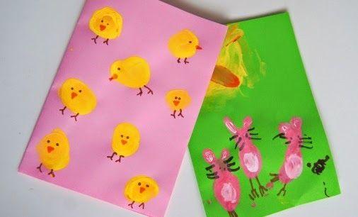 La forma delle nuvole: Biglietti di Pasqua da dipingere con i bambini