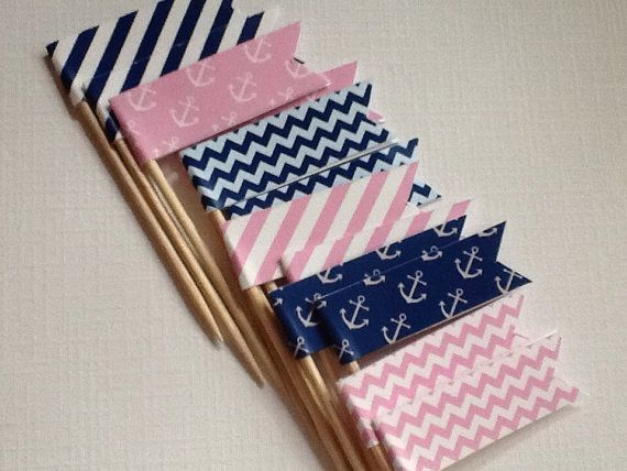 Hey, I found this really awesome Etsy listing at http://www.etsy.com/listing/158376512/pink-and-navy-nautical-anchor-party