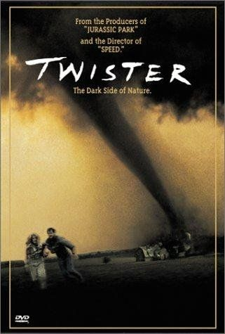 1996 - Twister -- Helen Hunt and Bill Paxton play scientists pursuing the most destructive weather front to sweep through mid-America's Tornado Alleyin 50 years.♥♥♥