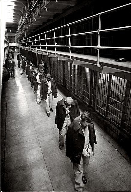 Last prisoners to leave Alcatraz in 1963 This is what I picture when Robbie is arrested for sexual assault and is put into prison.
