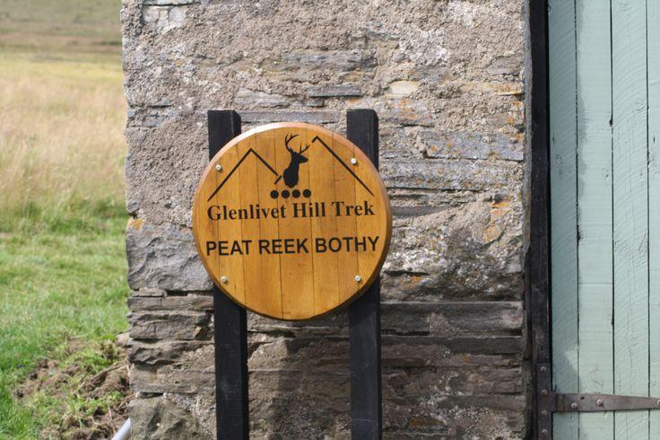 Glenlivet Hill Trek 'Peat Reek' Bothy, Carn Liath, Glenlivet - one of our picnic stops on the Smugglers' Trails.