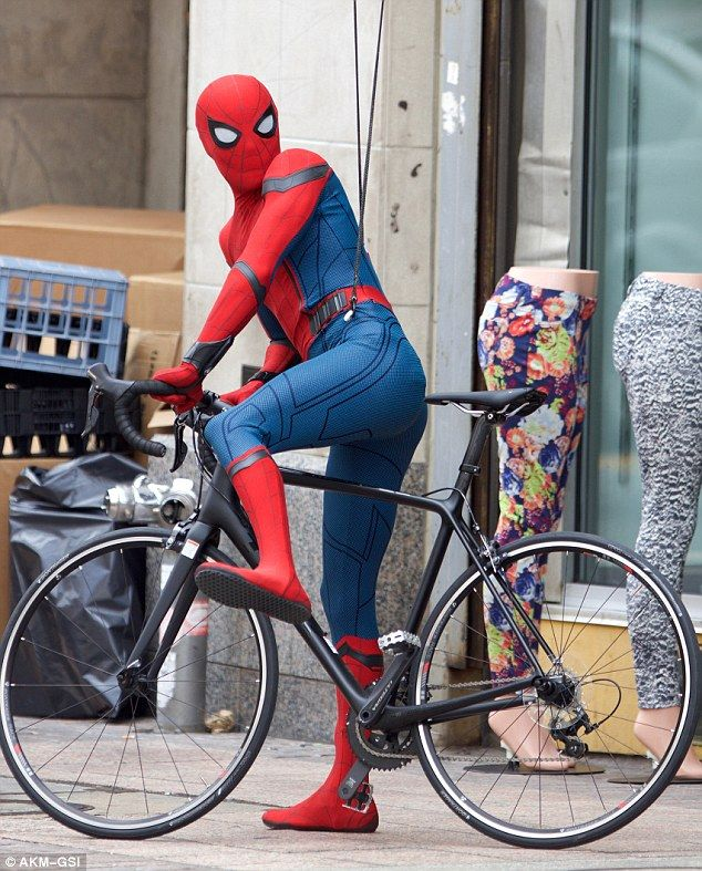 Le Tour de Spidey: His character pedalled away, presumably to escape rumoured villain The Vulture