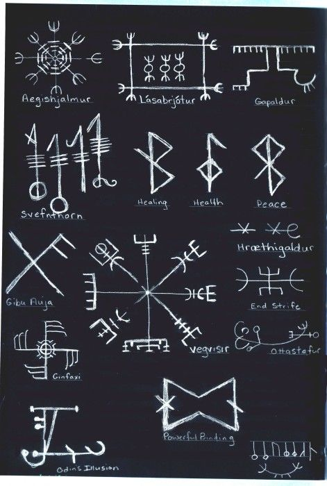 Icelandic magic staves http://www.elfwood.com/art/s/y/sylla//icelandicrunesneg.jpg