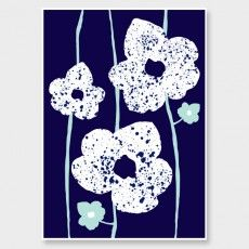Blooming in Blueberry Art Print by Amber Armitage