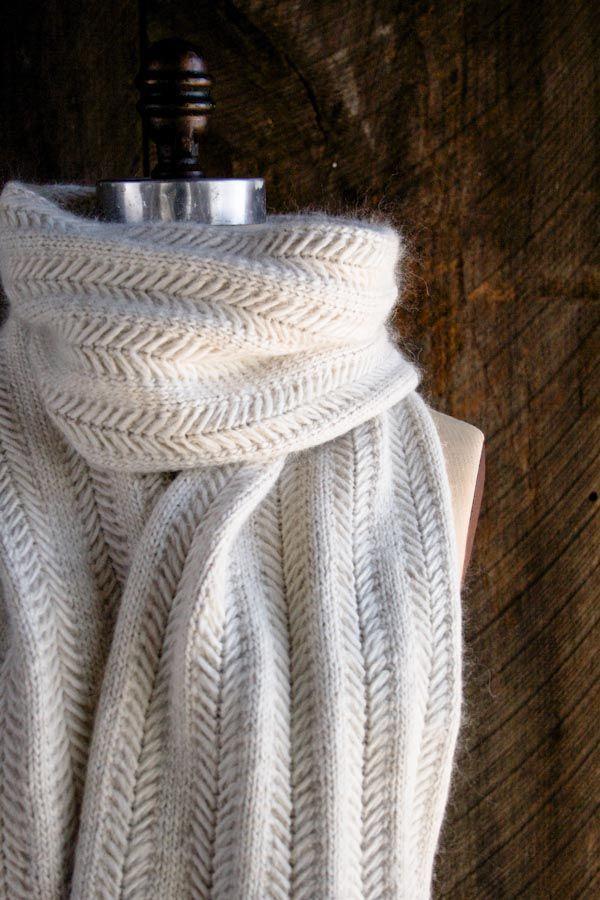 Padrão de tricô livre para lenço de jasmim e mais chevron tricô ...