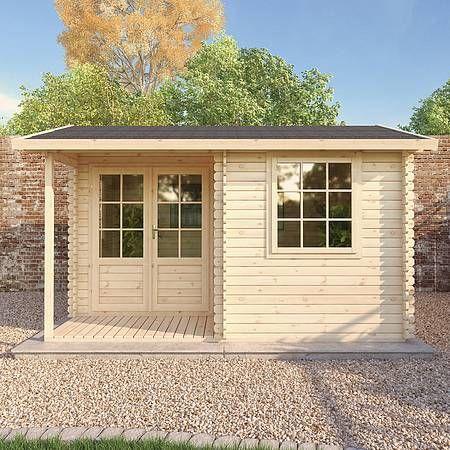 4m x 3m Waltons Home Office Executive Log Cabin