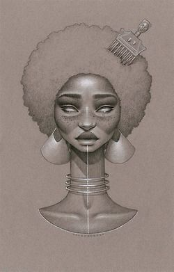 love beauty art vintage passion african american black women black art Goddess native afro natural hair twist out Cleopatra black love paintings braid out african art afrocentrism Sarah Golish