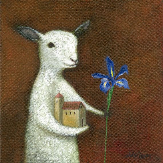 "Animal Painting Fine Art print: ""The Model Maker"""