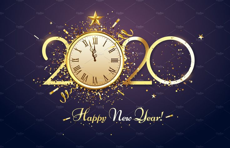 Happy 2020 New Year. Party countdown | New year clock, New ...