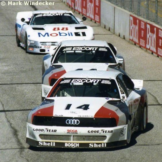 Hans-Joachim Stuck - Audi 200 Quattro - Audi of America - (44) Hurley Haywood - Audi 200 Quattro - Audi of America - (88) Darin Brassfield - Mobil 1 - WMMS-FM Trans-Am Weekend Cleveland - 1988 SCCA Escort Trans-Am Champi