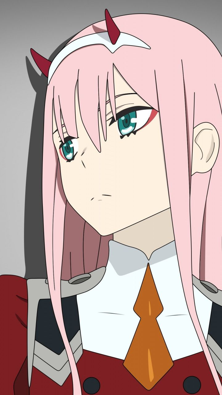 Curious Cute Zero Two Looking Away Darling In The Franxx