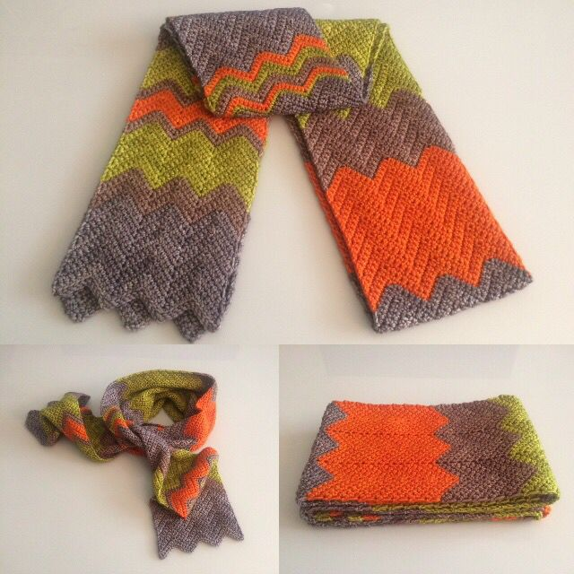 Beautiful hand crocheted chevron scarf. Available now at the #huked shop on #Etsy. You can get it!!  https://www.etsy.com/shop/huked