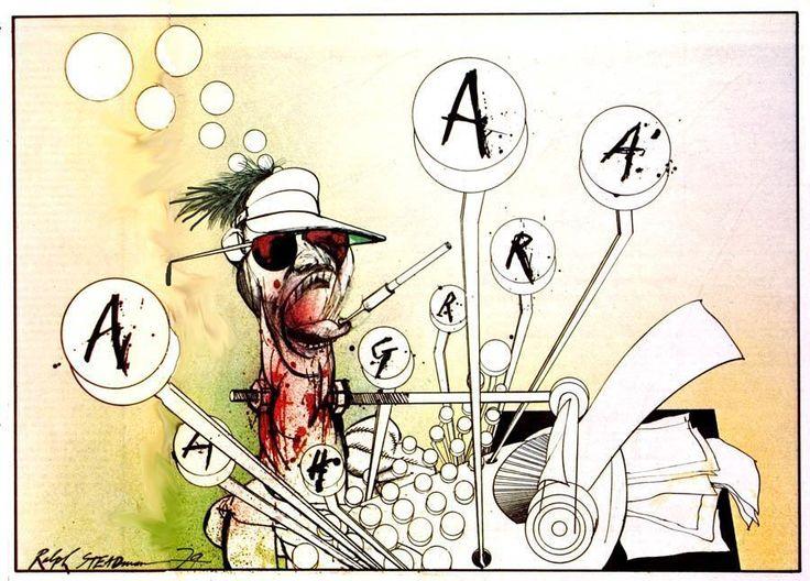 Artist: Ralph Steadman #steadman #artbrut #rawart #fuckart #ralphsteadman #gonzo