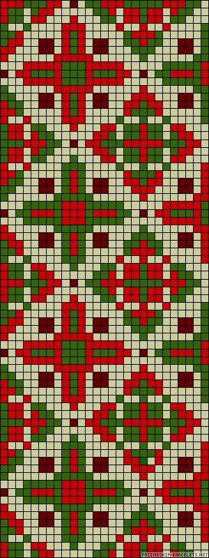 A58101 - friendship-bracelets.net Beadwork pattern #heartbeadwork #loomstitch