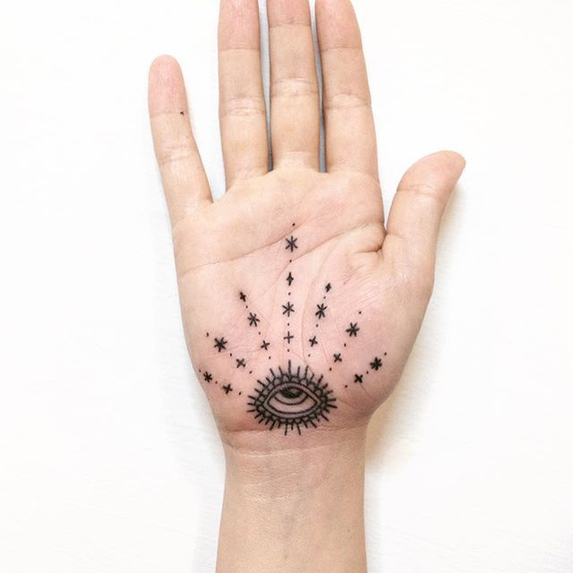 ·✴︎✦Thanks @scoutsgeneral!✦✴︎· #handpoked #palm @martlettattoo