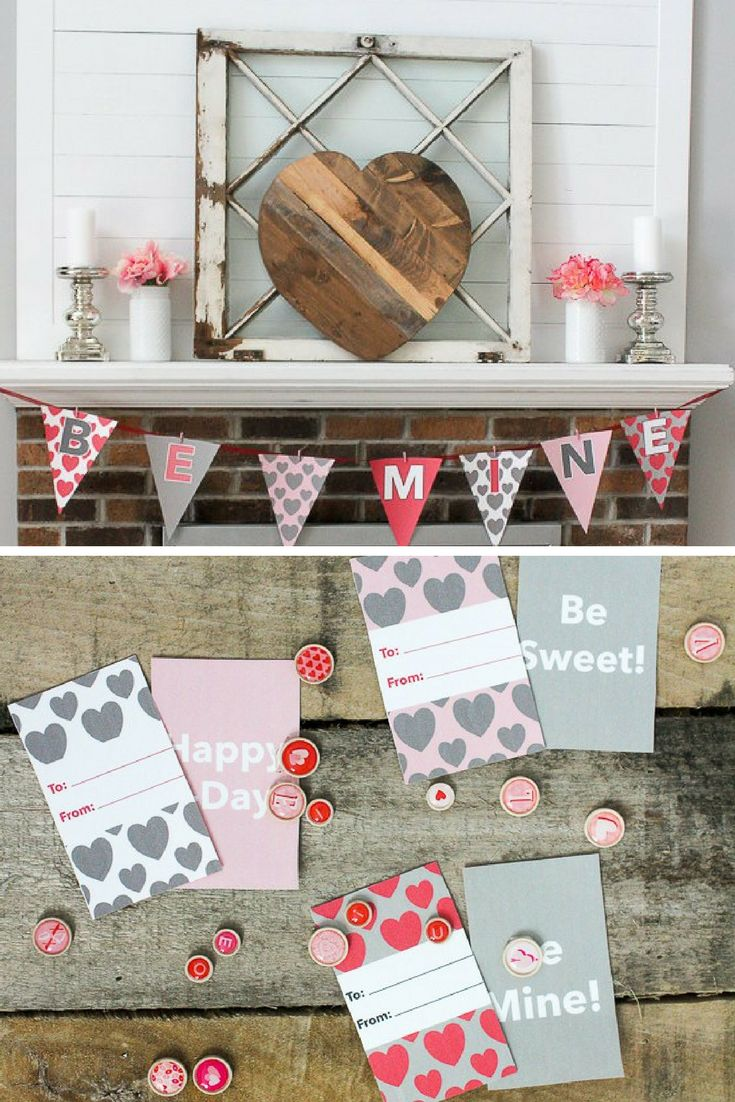 Quick, easy and free Valentine's Day printables. These sweet crafts will make your Valentine's Day perfect! #Valentinesday #valentine #freeprintable #printable