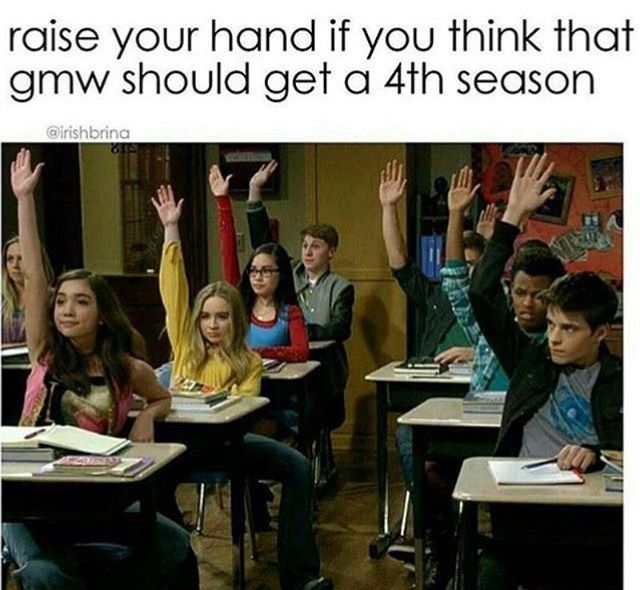 "I have a feeling we aren't but I really hope! It's such a good show and something nice to look forward to on Fridays. UPDATE: Girl Meets World has been officially canceled. People are trying to get another network to pick the show up. I think the chances are very low but there's still a chance. In the last episode this Friday, please put ""ships"" aside. Focus on the real message and the last message that Girl Meets World is leaving you with."