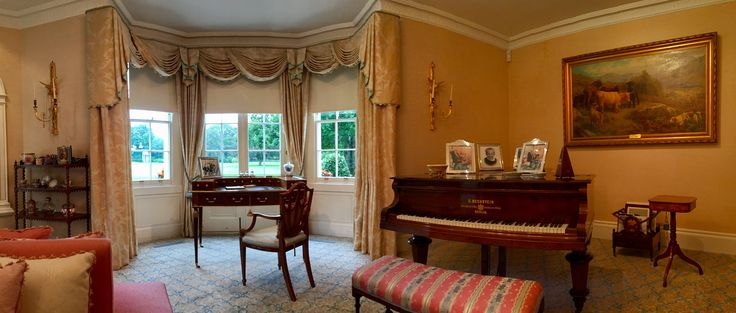 Blackout roller blinds with curtains installed in historic home near Littlehampton | Made to measure | Modern blinds in traditional decor | Sash windows