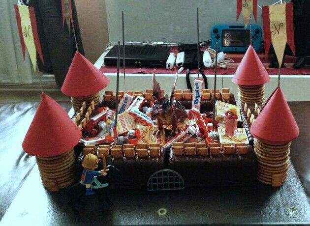 Kindergeburtstagskuchen Ritterburg Selfmade Cakes
