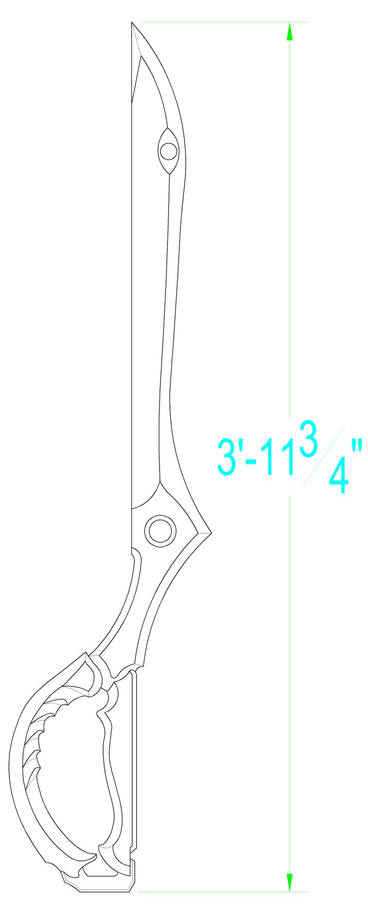 Kill La Kill: Ryuko's Scissor Blade Template by Solvash.deviantart.com on @DeviantArt