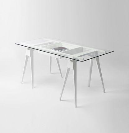 Arco skrivbord glas - Design House - Dennys Home
