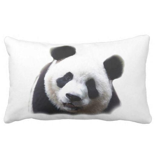 Panda Pop Art Lumbar Pillow
