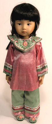 Mei-ling, by Dianna Effner, a 10 inch doll, designed by Effner and made by Boneka