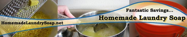 Recipe for homemade laundry soap.  http://homemadelaundrysoap.net/homemade_liquid_laundry_detergent_recipe.php