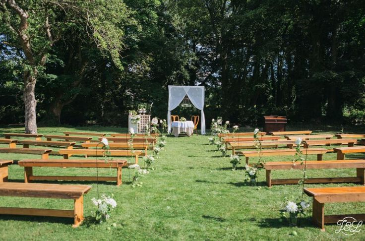 An Outdoor Wedding Ceremony at Monk Fryston Hall, Leeds