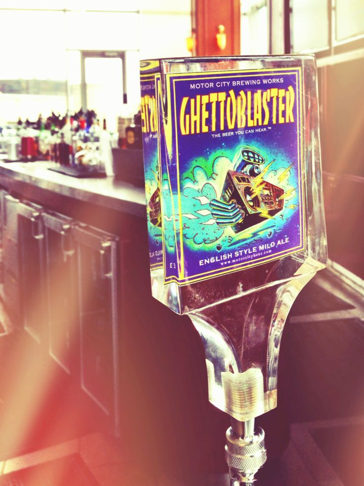 On tap at Volt: Ghetto Blaster Ale by Motor City Brewing.  #detroiteats