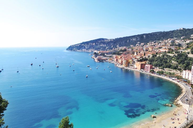 Panoramic view of Villefranche-Sur-Mer. One of the lovely cities to visit less than 10min from the Cap-Ferrat.