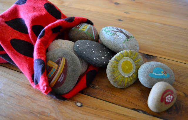 Paint On The Ceiling: How to Make and Play With Story Stones. I LOVE THIS IDEA!!! Do I have to wait til I actually have kids for this one?