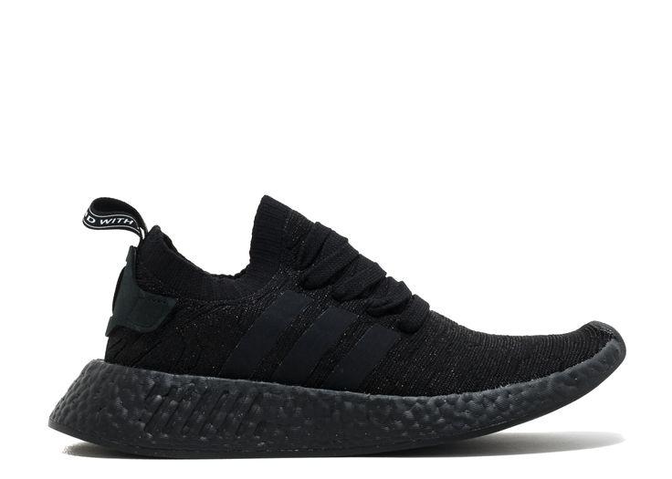 Triple black adidas nmd pk r2