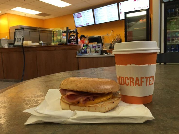 The Buck Special from Elements! A #breakfast #sandwich and a #coffee!  #uwyo #uwyodining #Laramie #Wyoming #college #university