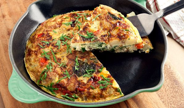 an egg-based Italian dish similar to an omelette or crustless quiche ...