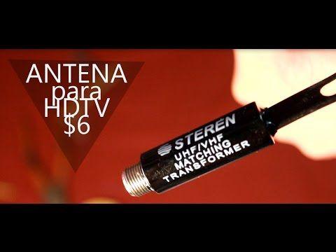 Como hacer antena casera para HDTV por solo 6 pesos - YouTube