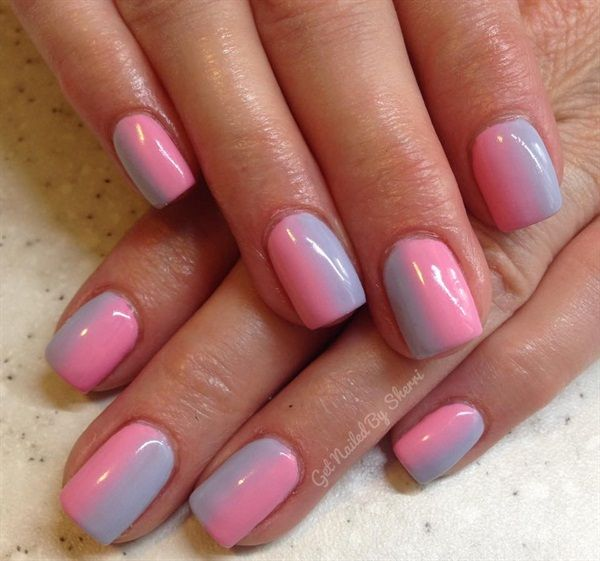 225 best ombre nail art images on pinterest ombre nail art day 146 stylish spring nail art prinsesfo Image collections