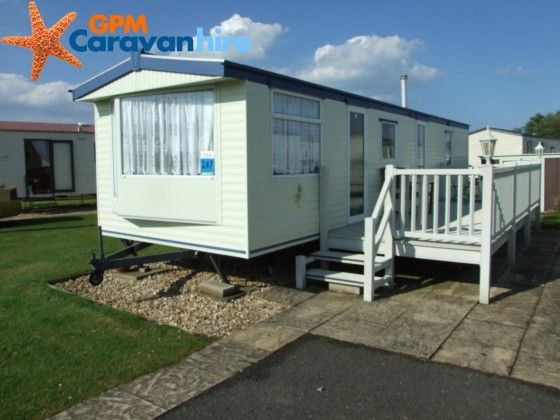 Luxury Gold 3 bed Static Caravan for Hire at Butlins Skegness