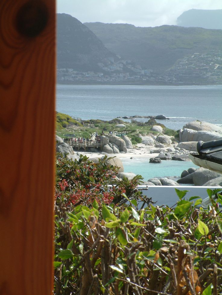 Self catering accommodation, Simonstown, Cape Town   Views of Simonstown beach   http://www.pinterest.com/capepointroute/bosky-dell/