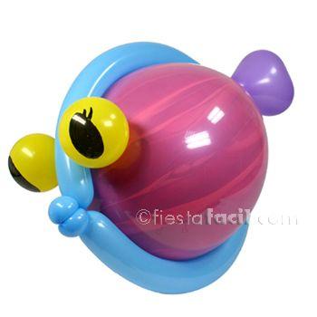 Ver cómo hacer este simpático pez globo en www.fiestafacil.com / Our very own balloon fish! At www.fiestafacil.com