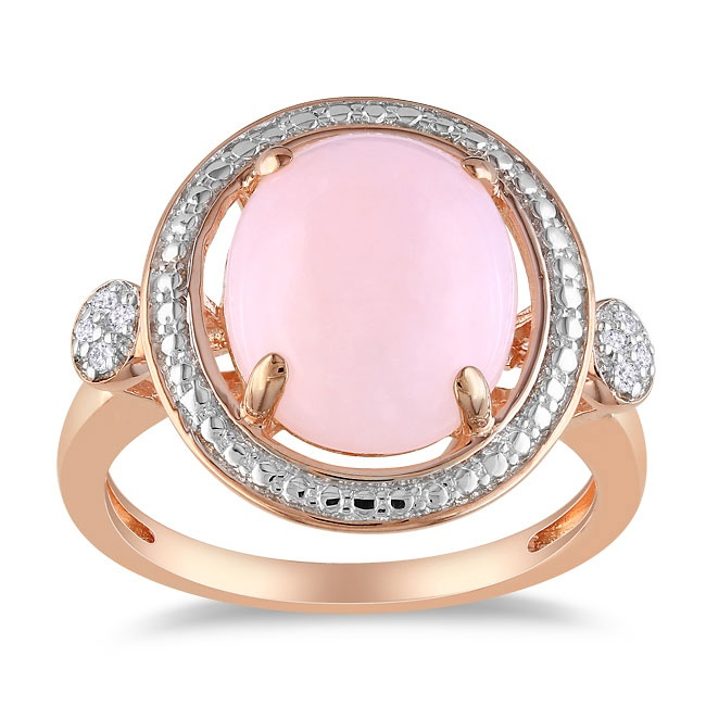 Pink opalAccent Rings, Ringpink Silverclick, Cocktails Ringpink, Pink Opals, Jewelry, Diamonds Opals Rings, Diamonds Accent, Rings Size, Diamonds Cocktails
